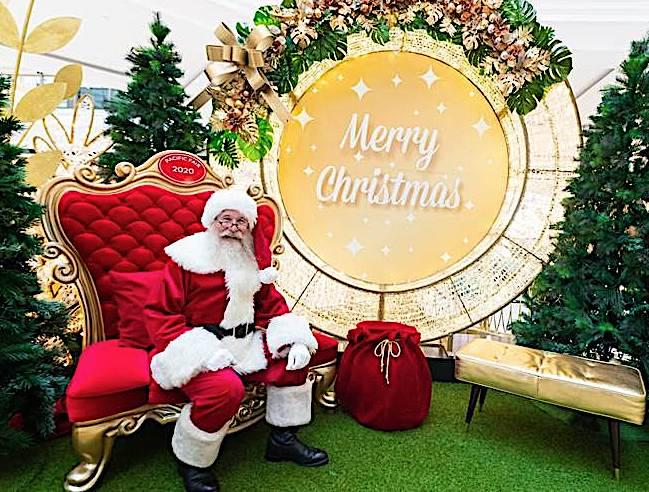 サンタフォト オーストラリアのクリスマス